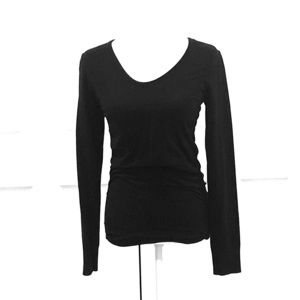 Athleta long-sleeve tee with ruching on sides